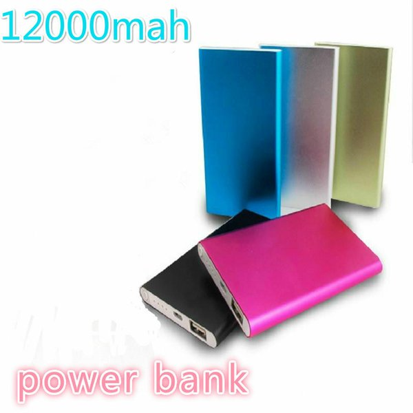 Ultra thin 12000mAH Power Bank Battery Safety USB Charger Emergency for Mobile iphone Android cellphones chargers Free shipping