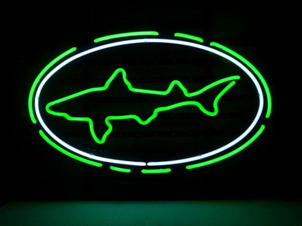 Yeni Yıldız Neon Burcu Fabrika 17X14 Inç Gerçek Cam Bira Bar Pub için Neon Burcu Işık Garaj Odası Dogfish Başkanı.