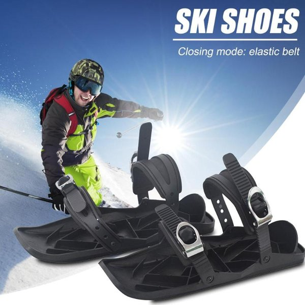 390mm * 145mm * 120mm 1 pair sci Outdoor Inverno Mini Sled Snow Board Boots Sports Equipment nero Sci Pratico accessori per la casa