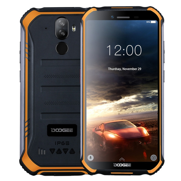 DOOGEE S40 4GNetwork Rugged Mobile Phone 5.5inch Display 4650mAh MT6739 Quad Core 2GB RAM 16GB ROM Android 9.0 8.0MP IP68/IP69K