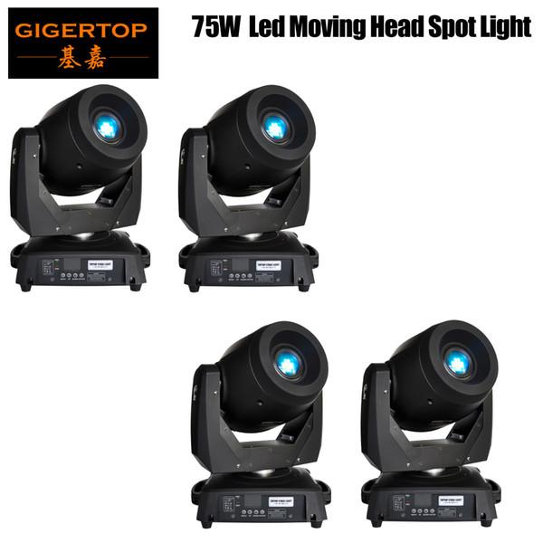 4XLot 75W LED Spot Teste mobili Luci DJ Controller per Stage Bar Disco Party DJ Wedding libero di trasporto DMX 512 Funzione 90V-240V