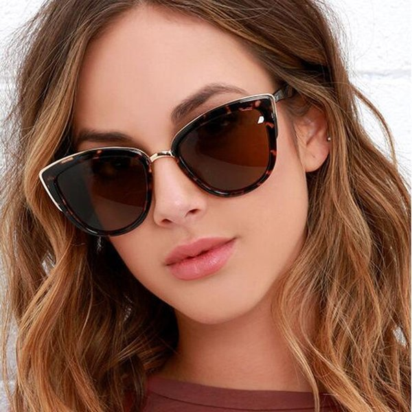 Retro Cat Eye Sunglasses Women Brand Designer Mirror Sun Glasses For Woman Fashion Big Sunglass Vintage oculos de sol UV400