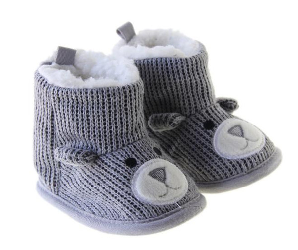 New Christmas Bear Baby Toddler Cotton Boots Toddler Shoes first Walker Shoes Boys Girls Learning Baby Snow Boots