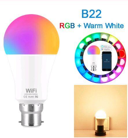B22 RGB branca morna