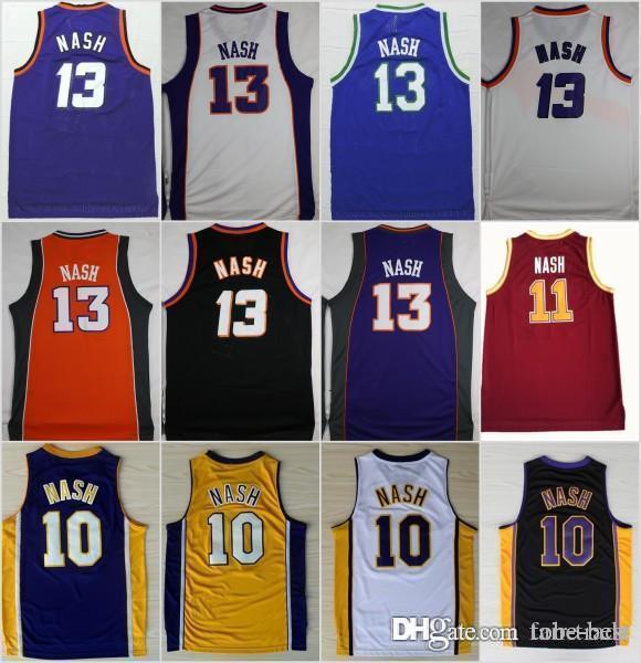 best loved c1f2b 6c5c6 2019 NCAA Basketball Phoenix 13 Steve Nash Jersey Suns 10 Men Santa Clara  Broncos 11 College Jerseys Sport Purple BLue White Yellow From Tobe Best,  ...