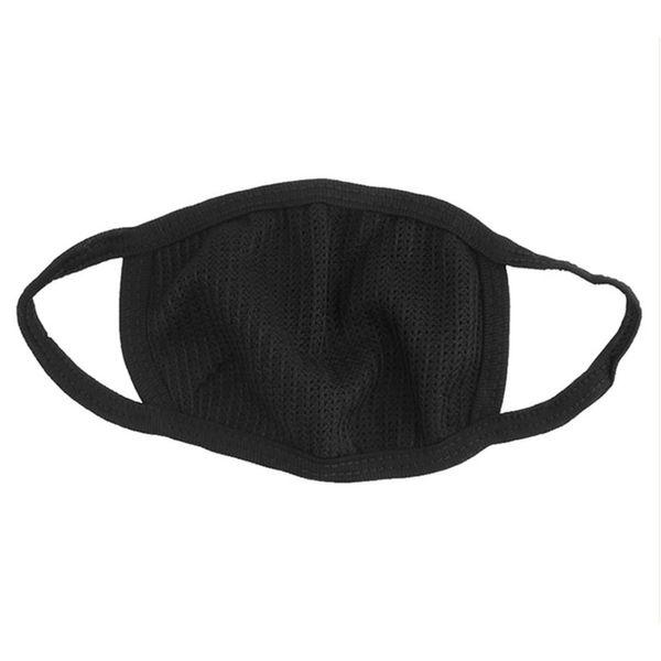 Algodão preto anti-poeira máscaras de ciclismo motociclismo Vestindo flue face máscara de boca Unisex Mouth muffle Respirador por quatro estações