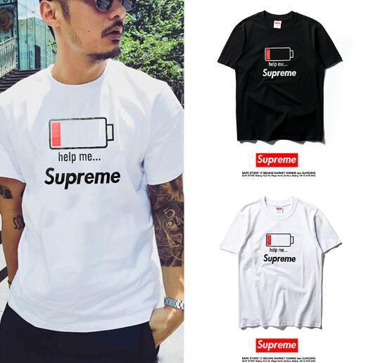 2019 sup футболки gc supereme s29 Футболка bb с коротким рукавомХип-хоп Мужская дизайнерская футболка с круглым вырезом Kanye West Letter Print Спортивная одежда оптом