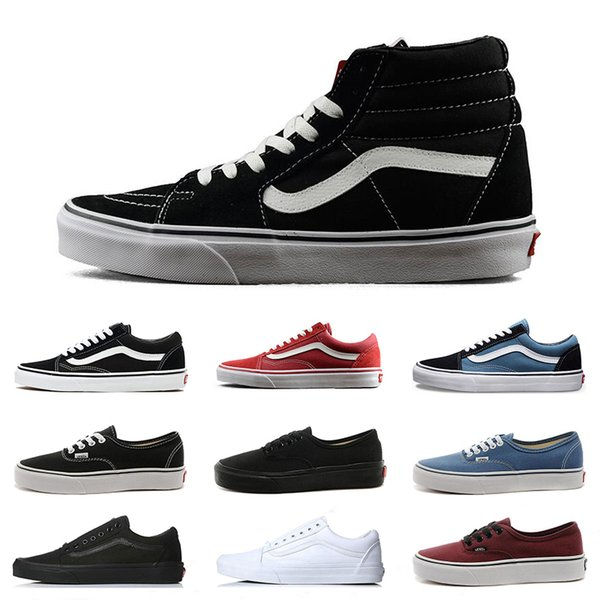 Original Van old skool MIx Checker OTW REPEAT FEAR OF GOD CHECKERBOARD canvas mens sport sneakers fashion Athleticl shoes size 36-44