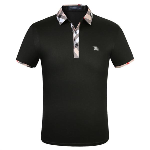 top popular Fashion Designer Polo Shirts Men short sleeve T-shirt original single Lapel polo shirt men's jacket sportswear jogging suit NO.2S 2020