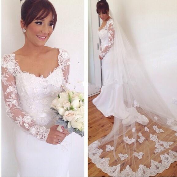 Weiß Elfenbein Meerjungfrau Brautkleider 2019 Elegante Lange Ärmel Brautkleider Nach Maß Vestidos De Novia Shop Online China