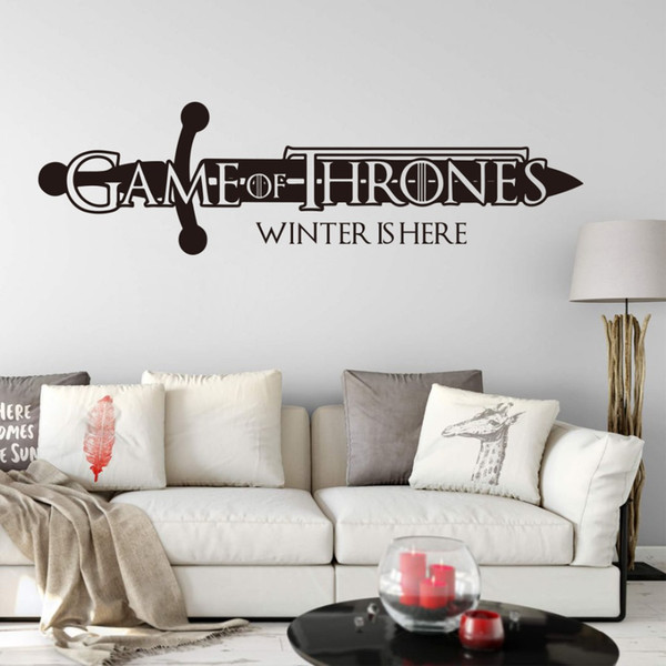 Large Winter is here Quote Wall Decal Boy Room Car Laptop Movie Film Wall Sticker Vinyl Decor
