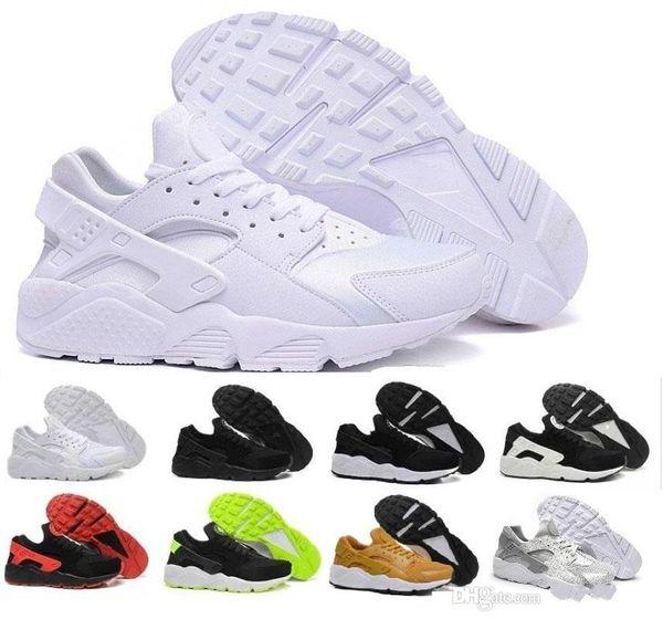 size 40 bce3d 5cbe4 Air Huarache Classical Triple White Black Red Gold Men Women Huarache Shoes  Huaraches Sports Sneakers Running Shoes Size 36 45 Cheap Shoes For Men ...