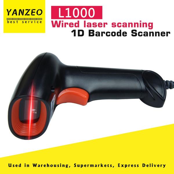 Yanzeo L1000 1D Barcode-Scanner Tragbarer USB-Laser-Lichtscanner für Handheld-2.4G für Supermarktspeicherlagerung