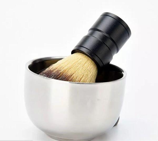 best selling Men's Durable Stainless Steel Shave Soap Cup Professional Barber Salon For Brush Shinning Shaving Mug Bowl Face Care Gift