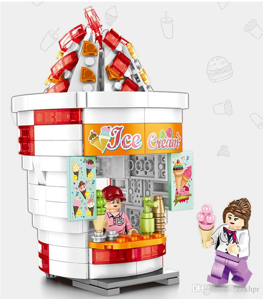 best selling Mini Street View City Series Small Particles Assembled Building Blocks Children's Educational Toys