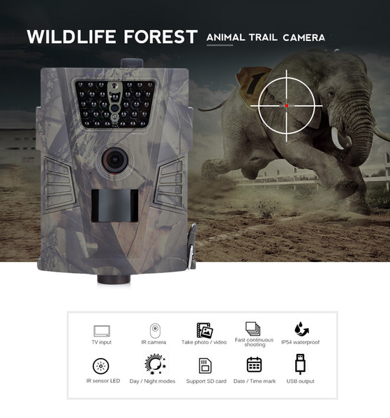 HT-001 Cámara digital de caza 940nm 720P Cámara salvaje GPRS IP54 Visión nocturna para fotos de animales Cámara de caza sensor PIR