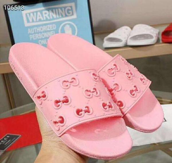 ceshib / 2019 hombres de marca de colores de las mujeres del deslizador suave moda niño niña letra Slip-on suela de goma plana sandalia tamaño tamaño EU35
