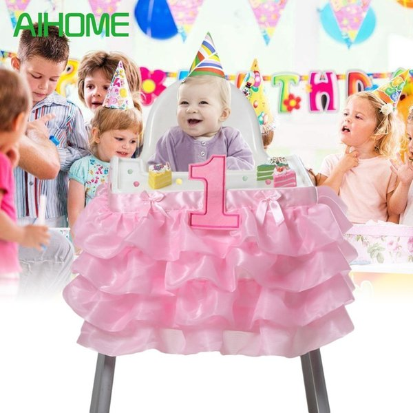 13 X 1 X 13.5 Inches Tulle Tutu Table Skirt Cover Baby Shower 1st Birthday Decor Baby Chair Skirt Support Drop Shipping