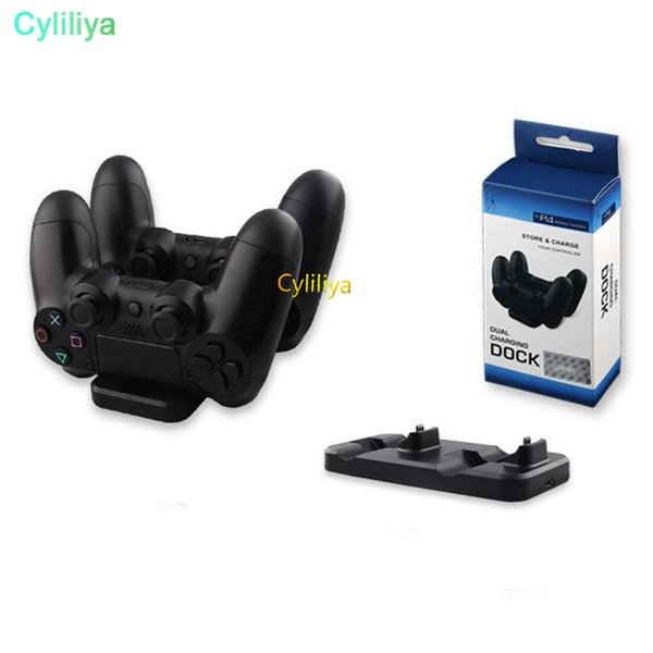 2 in 1 Dual charging dock Station charger for Sony PS3 PS4 Wireless controller / PS3 PS4 controller Playstation 3 4