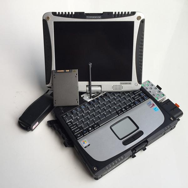 для Benz mb star C4 hdd SSD в автомобиле диагностический ноутбук для Panasonic Toughbook Cf19 (прочный, сенсорный экран, i5 8gb)