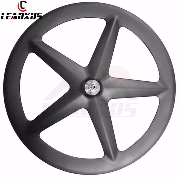 LEADXUS Carbon 5 Spoke Wheel Tubular Only 700C Carbon Wheelset Fixed Gear Wheel 20mm Width