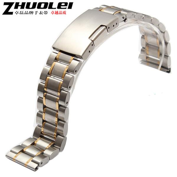 1 pcs Novo Relógio Acessórios 18mm 19mm 20mm 21mm 22mm 24mm Pulseira de Prata Pulseira de Relógio De Metal