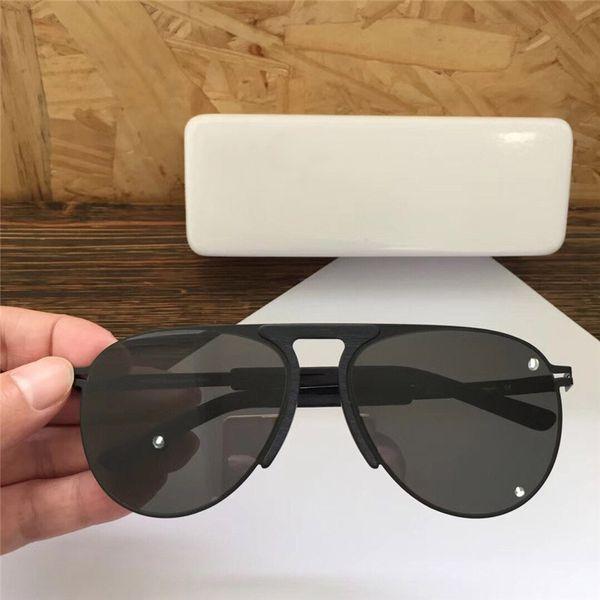 Новые популярные дизайнерские солнцезащитные очки MYKITA RYE сверхлегкий металл ретро тенденция круглая рамка очки высокое качество UV400 защита цветной пленки объектив