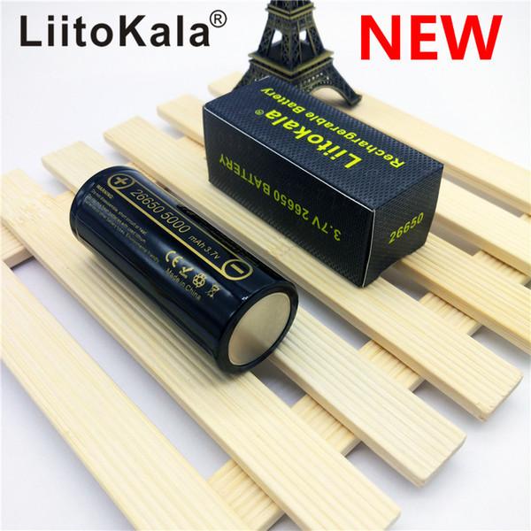 HK LiitoKala lii-50A Batteria al litio 26650 5000mAh 3,7 V 5000 mAh Batteria ricaricabile 26650 26650-50A adatta per flash NOVITÀ