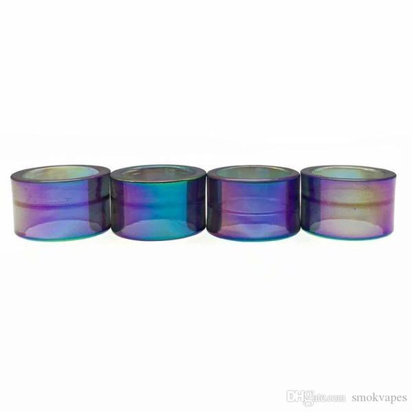 Bastante Vapes sustitución de vidrio del arco iris tubo de goteo Consejo Boquilla Capacidad grande de Transparencia para el palillo V9 Max Kit tanque TFV8 bebé V2 vaporizador