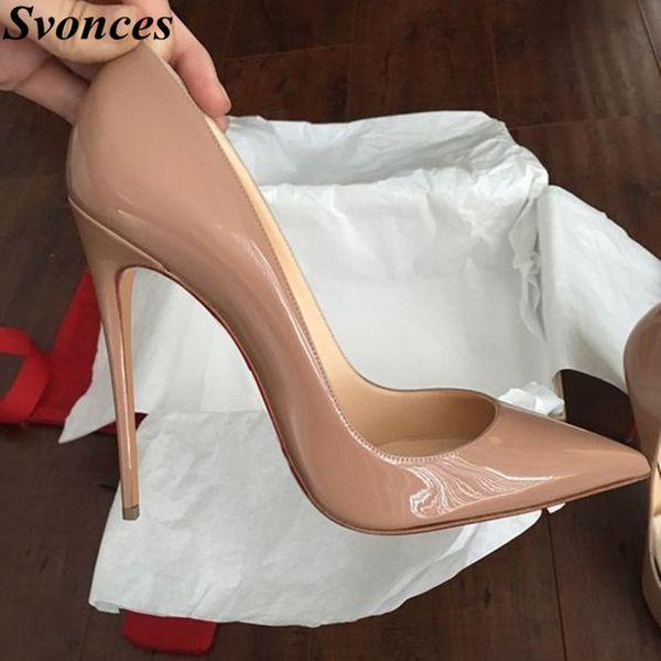 Damen Designer Schuhe Frauen So Nice Kate 12 cm / 10 cm Lackleder Schwarz Nude Heels Pigalle Mode Hochzeit Schuhe Frauen Pumps