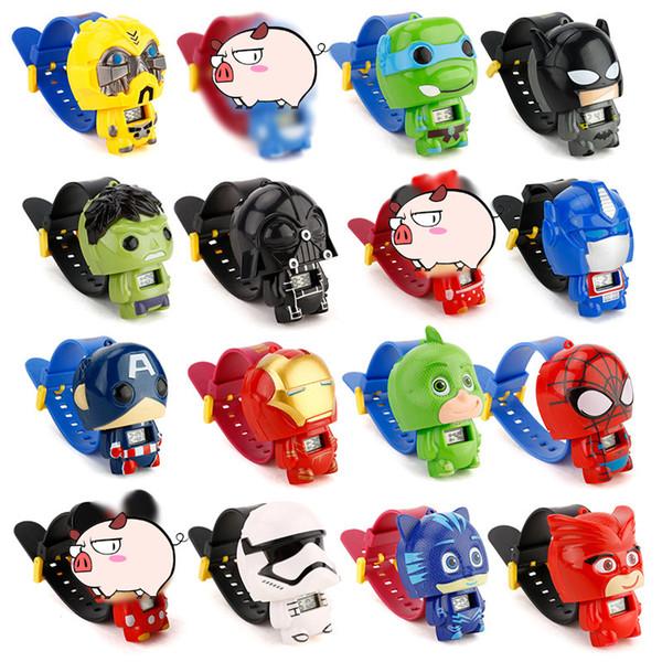 Vengadores LOL relojes de la muñeca del niño para niños Seguir Batman gatito electrónica de dibujos animados para niños chica estudiante Niños reloj de pulsera