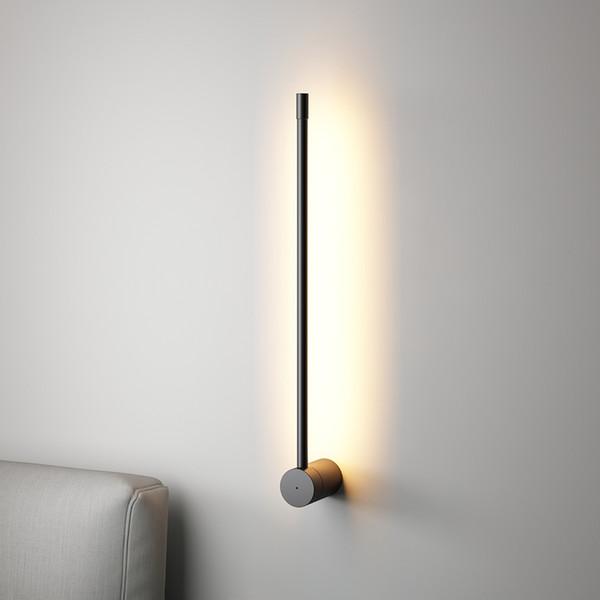 Minimalista Linea Lampade da parete nordico moderno e minimalista Aisle Sfondo Luce a muro Soggiorno Camera da letto Saconces Vintage