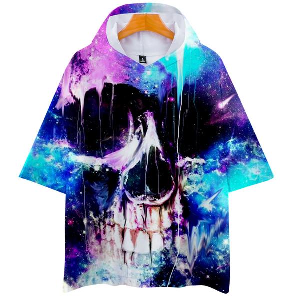 3D Shantou 2018 new Hoodies Short Sleeve Hip Hop 2018 Fashion Kpop Casual Summer/Autumn Soft Hoodies Sweatshirts