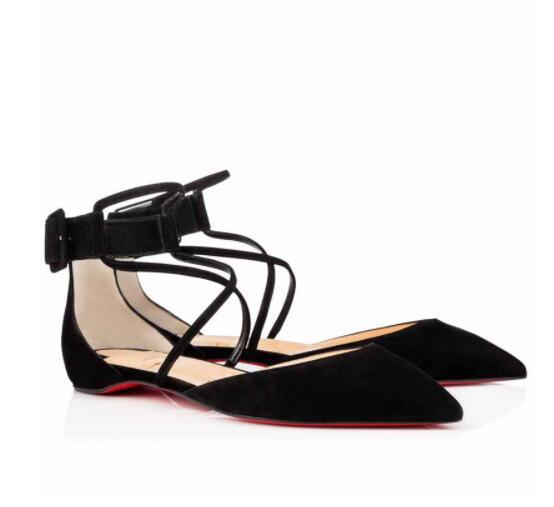 0bc39261ede Sexy Red Bottom Suzanna Flat PVC Flat Genuine Leather Women Ballerinas  Shoes Ankle Strap Ladies Pinted Toe Luxury Brand Party Wedding White  Mountain ...