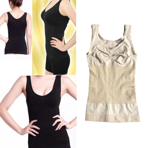Women Body Shaper Slimming Vest Bust Up Lift Bra Cami Tank Top Underwear Corset Shapewear Camisole XRQ88