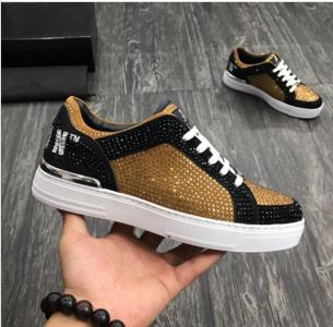 New Arrive Sneaker-Platform Mens Shoes SS1798 Top Stars Luxury Layer Leather of Rivet Casual Men Shoes EUR 38-45 zx01
