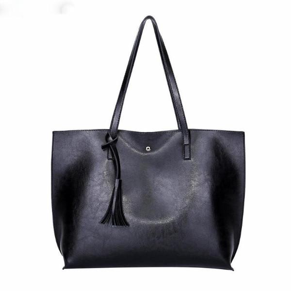 Vintage Shoulder Handbags Women Oil Wax Leather Tassel Totes Ladies Hasp Shopping Bags Bolsa Feminina Winter