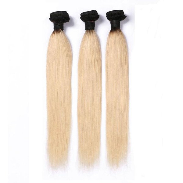 Brazilian Ombre Human Hair Bundles 3PCS 1B/613 ombre Blonde Remy Human Hair Straight 8-28 Inches