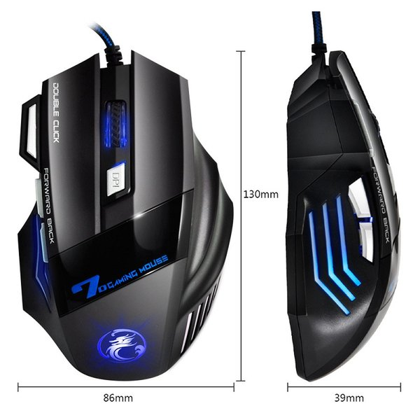 Professional Wired Gaming Mouse 7 Button 5500 DPI LED Optical USB Gamer Mice X7 Game Mouse For PC