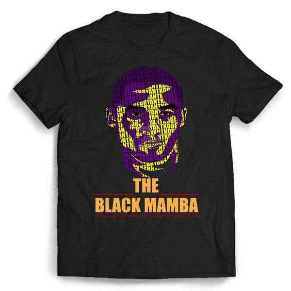 Kobe Bryant Black Mamba Logo para hombre / camiseta para mujer envío gratis Unisex Camiseta casual top