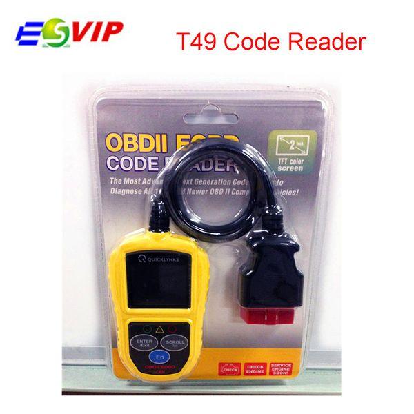 5pcs / lot DHL gratuit voiture Code Scanner Lecteur T49 Scanner Leagend T49 OBD2 Scanner / Auto Basic Auto Diagnostic Tool