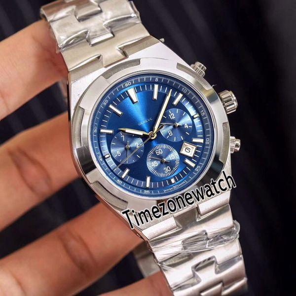 Yeni Yurtdışı 5500 V / 110A-B148 Çelik Kasa Mavi Dial A2813 Otomatik Mens Watch Paslanmaz Çelik Bilezik Saatler 7 Renkler Timezonewatch E12a1