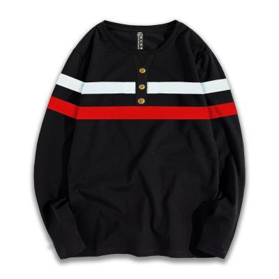 Para hombre de la marca con capucha de gran tamaño sueltos Tops para la camiseta de lujo Niños Jóvenes Vestimenta rayada Imprimir 2019 Otoño tendencia vendedora caliente