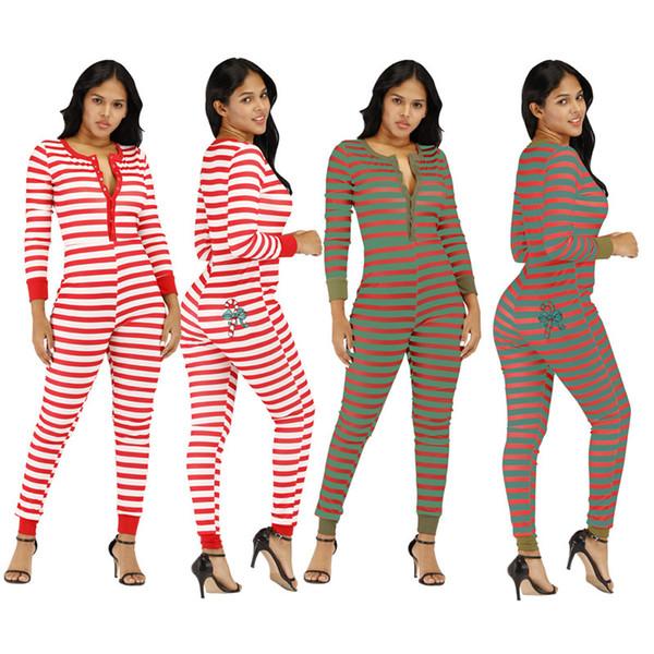 Automne hiver taille plus les femmes de Noël Tenues imprimer Sexy bande casual Noël barboteuses salopette une pièce Slim Leggings nuit club wear 2114