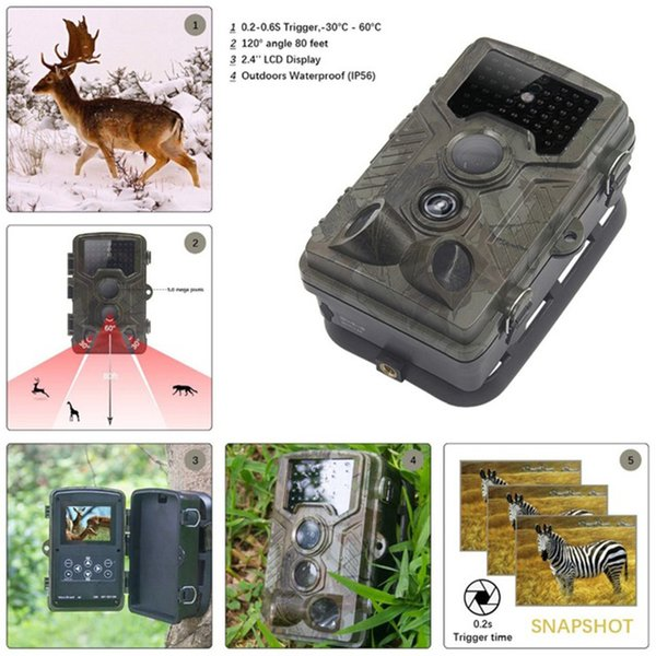 HC800A Hunting Trail Camera Full HD 12MP 1080P Video Night Vision Camera Trap Scouting Infrared IR Trail Trap