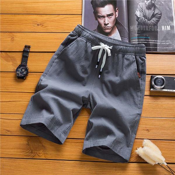Erkek Tasarımcı Şort 2019 Yeni erkek Tatil Rahat Plaj Şort kurulu Diz Boyu Pantolon Erkek Gevşek Yaz Giyim 6 Renk Asya Boyutu Toptan