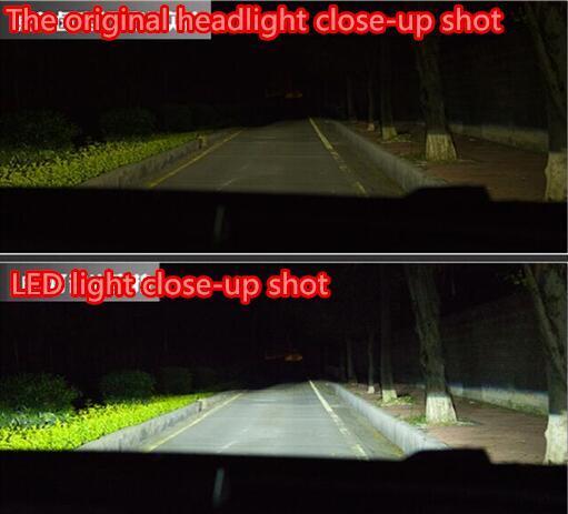 projecteur LED Automobile h1h4h7 rééquipé super-lumineux laser du projecteur à haute intensité de concentration faible luminosité lampe de grande lumière