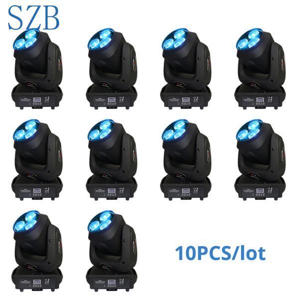 10 pçs / lote SZB 3x40 w Zoom olhos de Abelha LED cabeça em movimento de Luz RGBW 4IN1 Mistura de Cores DMX moving zoom lavagem DJ Iluminação Stage Light / SZB-MH0340