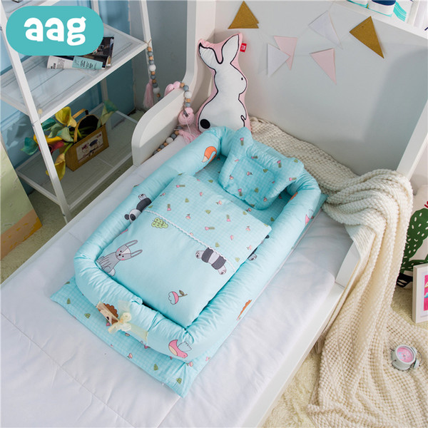 debf66629b AAG Portable Baby Cribs Nursery Travel Folding Baby Bed Cotton Removable  Washable Toddler Cradle Crib Multifunction Storage Bag