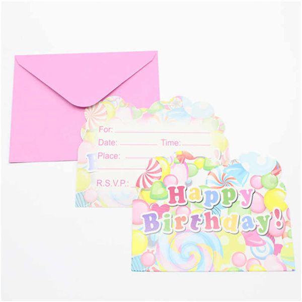 Compre Feliz Cumpleaños Serie Tema Tarjeta De Invitación Letras Actividades Temáticas Niños Fiesta De Cumpleaños Tarjeta De Felicitación Fiesta
